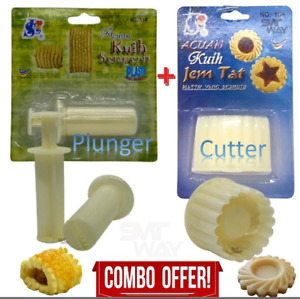 Set of Pineapple Jam Tart Plunger and Cutter Christmas Cookies tools mold