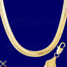 "CLEARANCE  SPECIAL PURCHASE 30"" HUGE GOLD GP HERRINGBONE CHAIN NECKLACE Ho12J"