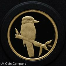 2009 Australie Kookaburra 20th Anniversary fine .999 1/20 Oz Gold Proof $5 coin