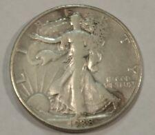 1938D VF Walking Liberty silver half dollar. Low mintage date. (lot#2)