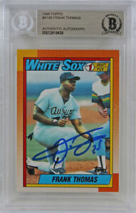 White Sox Frank Thomas Authentic Signed 1990 Topps #414B Rookie Card BAS Slabbed