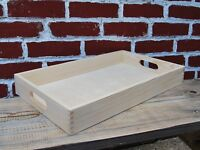 Wooden Serving Large Tray, Set from 1 to 10,  50 cm x 30 cm x 6 cm, - Unpainted