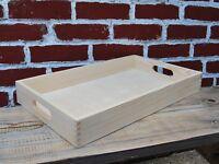 Holz Portion Groß Tablett, Set Von 1 Zu 10, 50 CM X 30 6 CM Unlackiert
