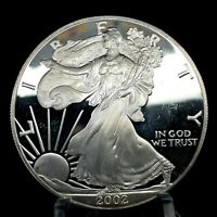 2002-W  American Silver Eagle - Proof - 1 Oz. Silver In Capsule - Coin Only.