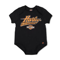 Harley Davidson Infant Newborn Baby & Kid Black Leotard