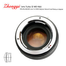 Lens Turbo II adapter for Minolta MD mount lens to Sony mount NEX α6000 a6500
