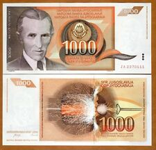 Yugoslavia, 1000 Dinara, 1990, Pick 107, ZA UNC > Replacement