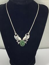 Simmons Sterling Silver Green Turquoise Necklace