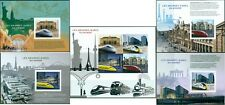 SPEED TRAINS RAILWAY STATIONS TRANSPORT MADAGASCAR IMPERFORATED MNH STAMP SET