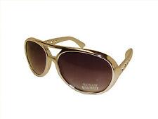 Elvis Silver Frame Aviator Sunglasses Sun Glasses