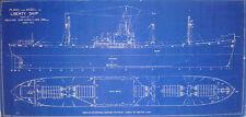 "WW2 Liberty Ship Blueprint Plans 1941 2 sheets 15""x 30""  (99)"