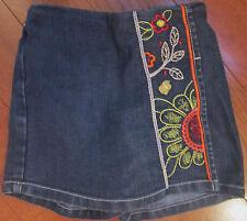 Girl Size 24 Month Embroidered Denim Talbots Kids Skort