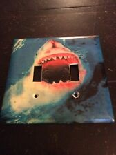 Double Light Switch Cover Shark Theme