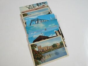 Vintage Lot of 25 Saginaw Michigan Postcards Some Early 1900s