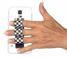 LAZY-HANDS 3-Loop Phone Grip - BLACK/WHITE CHECKERS