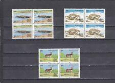 A139-NEPAL-SG448-450 Neuf sans Charnière 1984 faune Gavial du Gange/Léopard/cervicapre-blocs 4