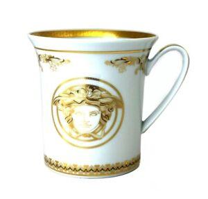 NEW VERSACE BY ROSENTHAL MEDUSA GALA GOLD MUG #403636-15505 BRAND NIB SAVE$ F/SH