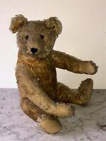 Antiker Original-Teddybär von Steiff, um 1930, beiger Mohair,  44 cm