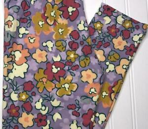 LuLaRoe Disney OS Mickey Mouse HIdden Mickey Leggings Purple Floral NEW NWT