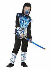 Boys Ninja Warrior Japanese Samurai Fighter Fancy Dress Costume Kids Outfit