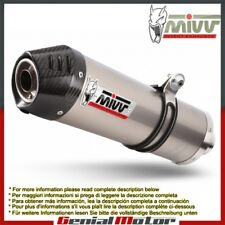 Mivv Exhaust Muffler Oval Titanium Carbon Cap Suzuki Dl V-Strom 1000 2014 > 2018