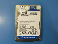"""Western Digital WD1600BEVT 160 GB Internal 5400 RPM 2.5"""" HDD Model -00ZCT0"""