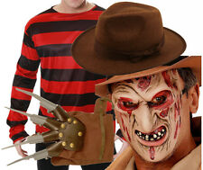 Freddy Freddie Krueger Elm Halloween Fancy Dress Costume Jumper Mask Hat Glove