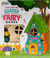 Paint Your Own Garden Fairy House Decorate Craft Pixie Cottage Kids Art R03-037