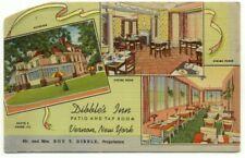 Vernon NY Dibble's Inn Linen Postcard ~ New York