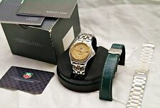 Tag Heuer WI 1151 Solid Gold and Stainless Watch - Leather and 2 SS  Bracelets
