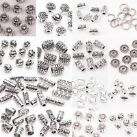 50/100Pc Charms Antique Tibetan Silver Loose Spacer Beads Jewelry Findings DIY