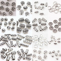 Lots Style 50/100Pc Antique Tibetan Silver Loose Spacer Beads Charm Jewelry DIY