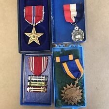 USA Military Bronze Star Medal And Other Metals And Ribbons