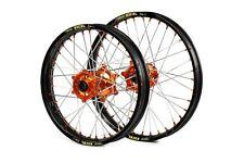 SM Pro Platinum Motocross Wheels Coloured Spoke Ends - KTM (Pair)