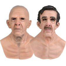 Cosplay Bald Old Man Creepy Wrinkle Halloween Party Carnival Props Costume~Party