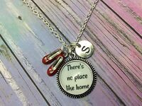 Personalised any initial customised Wizard of Oz Quote pendant charm necklace