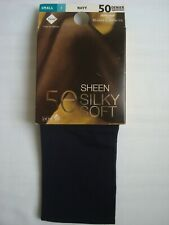 Sheen Silky Soft Tights 50 Denier Navy Small St Michael from Marks & Spencer