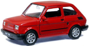 WELFI49720W - Car Compact Fiat 126 Of Color Red Toy To Friction