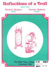 REFLECTIONS OF A TROLL Music Sheet-1980-Piano Solo-BURGESS/BALDWIN-HALLOWEEN