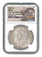 1887 Morgan Silver Dollar From the New York Bank Hoard NGC MS67 SKU56792
