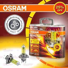 H4 472 OSRAM Fog Breaker YELLOW Spot Headlight Twin Bulbs 60W/55W P43t 62193FBR