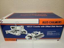 Allis-Chalmers HD-21 w/ Disk Harrow - White First Gear 1:25 Scale #49-0136 New!