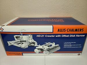 Allis-Chalmers HD-21 w/ Disk Harrow - White First Gear 1:25 Scale #49-0136 New!