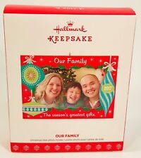 2017 Hallmark Keepsake Ornament OUR FAMILY Christmas Tree Photo Holder NIB