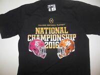 Alabama Crimson Tide vs Clemson Tigers 2016 National Championship T-Shirt Rare