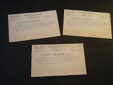 *3* Palestine Savings Certificates Saving Stamp Cards found in early '50s NI Pks