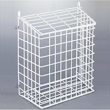 White Steel Mesh Letter Post Catcher Door Box Cage Basket Holder Guard Letterbox