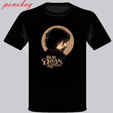 New Bob Dylan and His Band Rock Band Legend Men's Black T-Shirt Size S-3XL