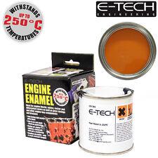 E-Tech ORANGE Heat Resistant Engine Enamel Paint 250ml **NEW** High Temp