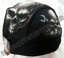 Skull & Wrench Crossbones Headwrap Biker Doo Rag Durag Cap #1054